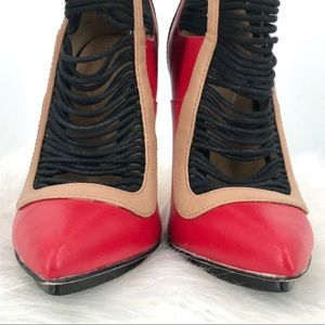 "GX by Gwen Stefani Shoes - GX by Gwen Stefani red & black 4.5"" heel bootie"